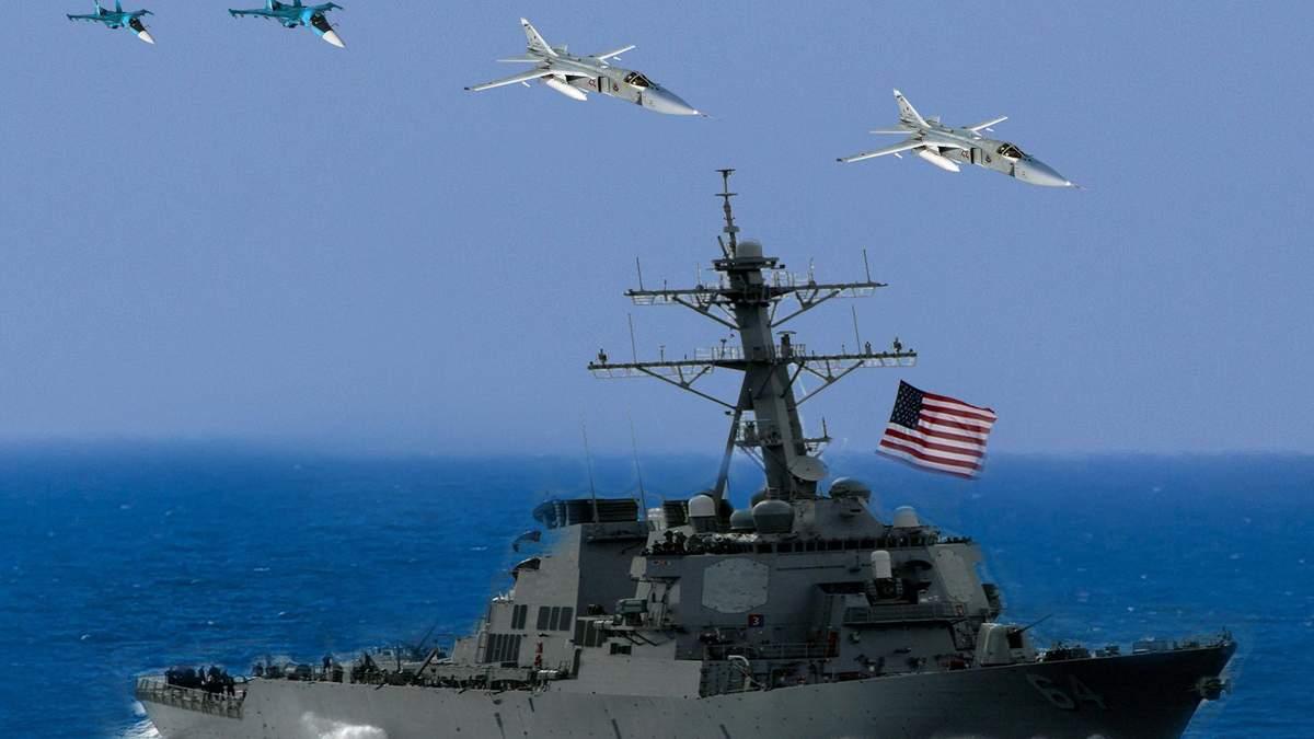 Россия сымитировала ракетный удар по эсминцу США в Черном море