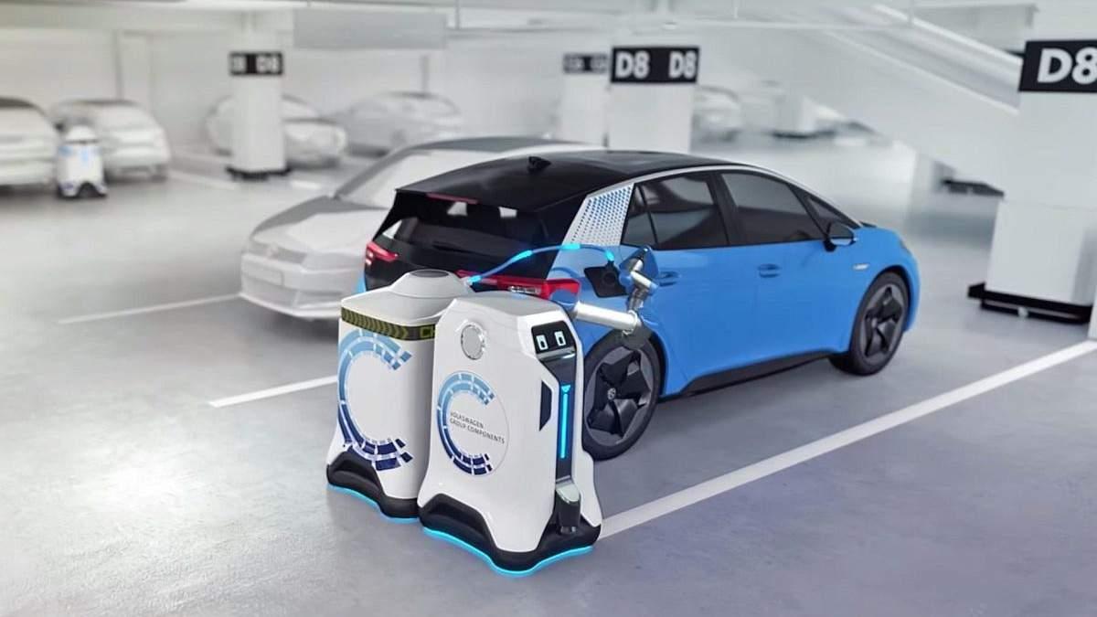 """Роботы """"заправники"""" Volkswagen"""