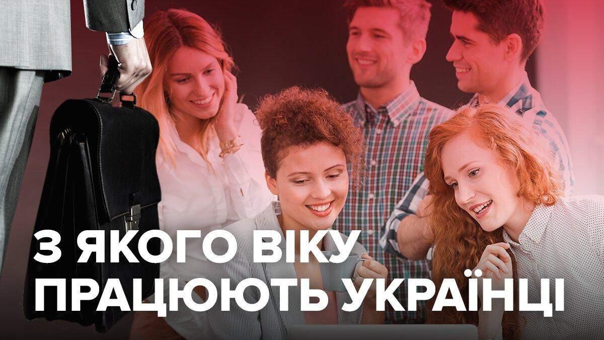 В якому віці українці ідуть на першу роботу: інфографіка