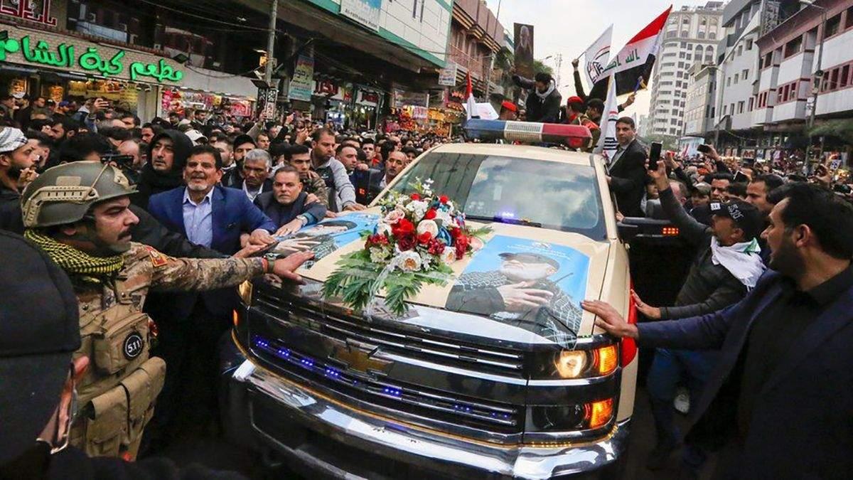 Похороны иранского генерала Сулеймани в Ираке: фото и видео