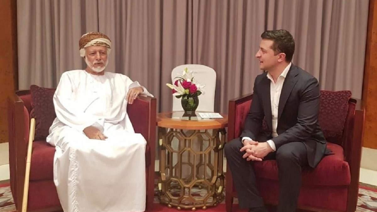 Зеленский встретился с министром, ответственным за иностранные дела Омана
