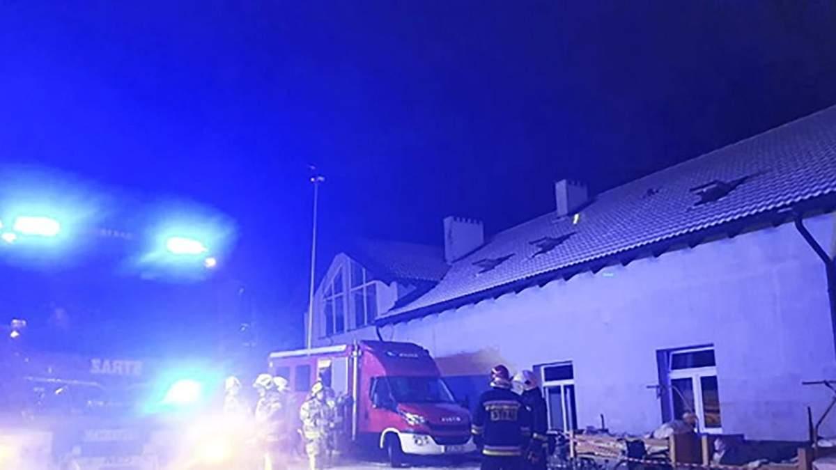 Пожар в хосписе в Польше