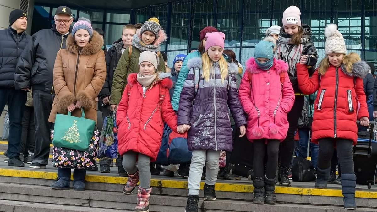 Діти з районів лінії трозмежування на Донбасі приїхали до Києва