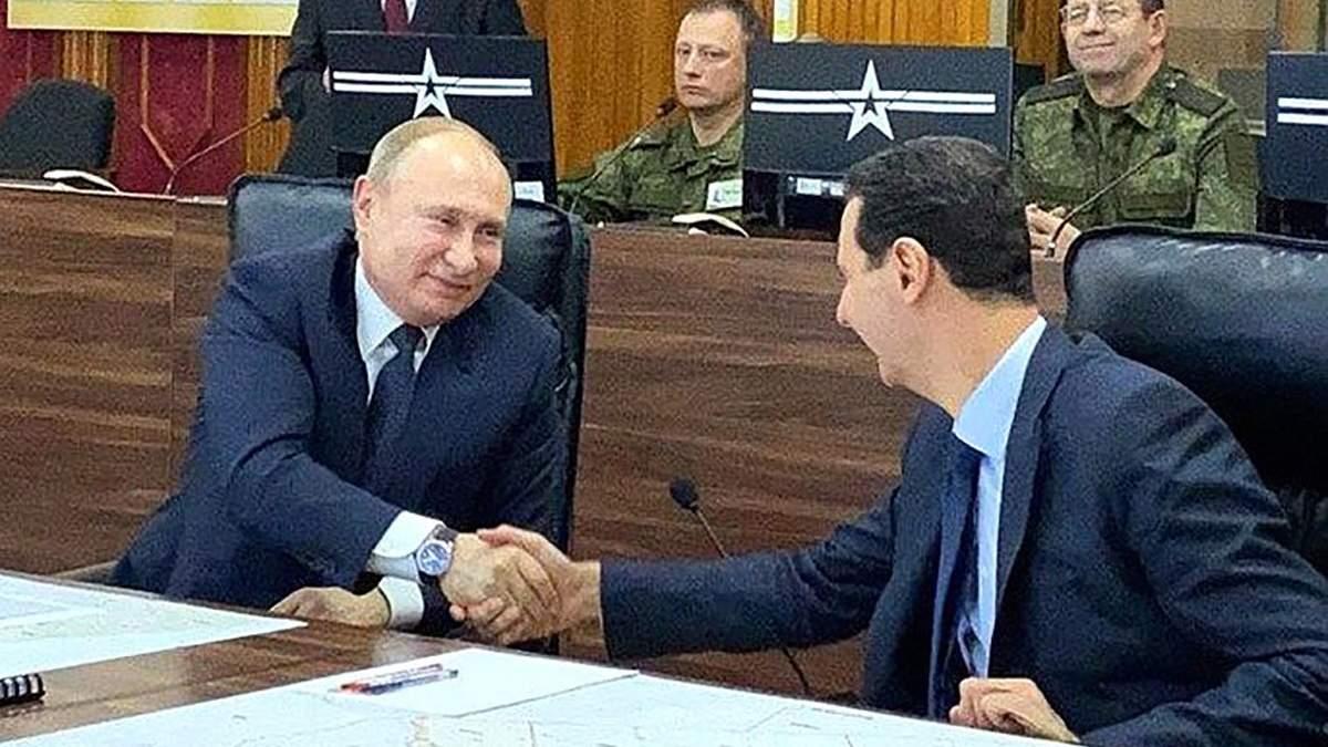 Путін на Різдво прибув до Сирії та зустрівся з Асадом