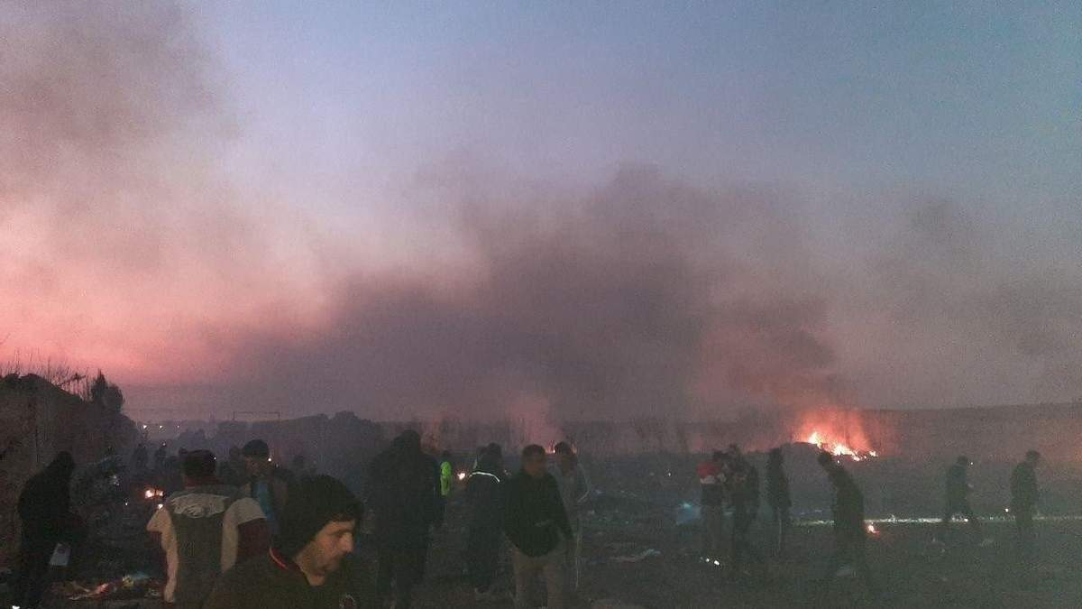 Авиакатастрофа МАУ в Тегеране, Иран – видео падения 8 января 2020