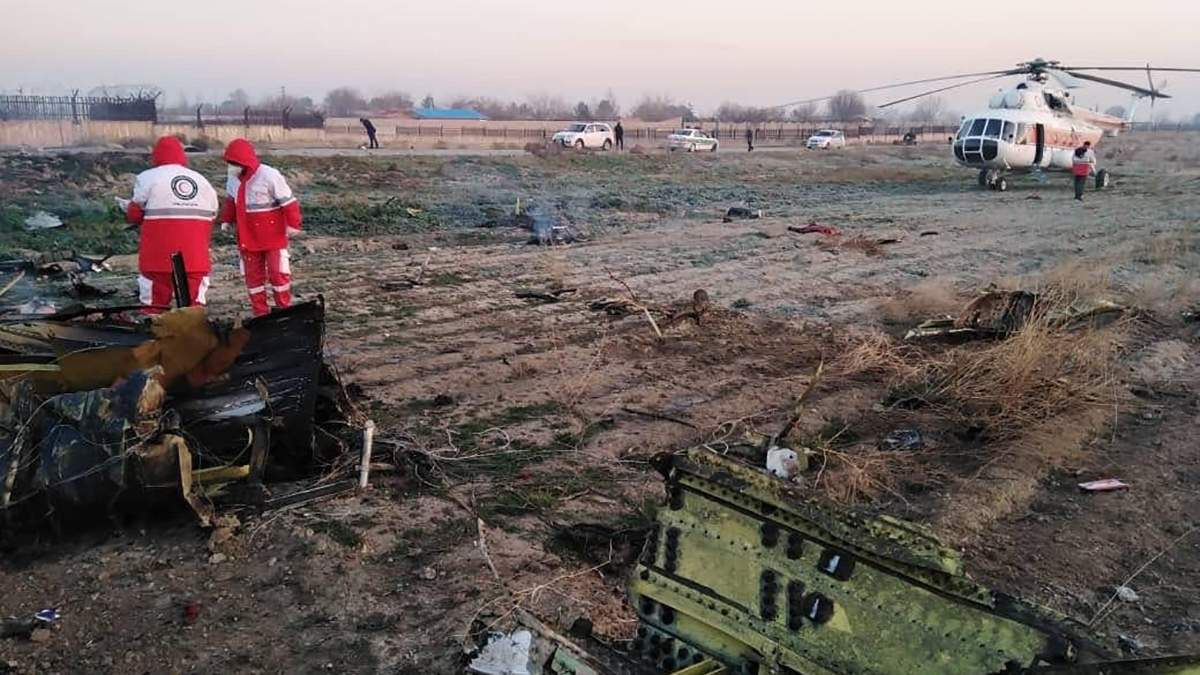 Видео с места падения самолета