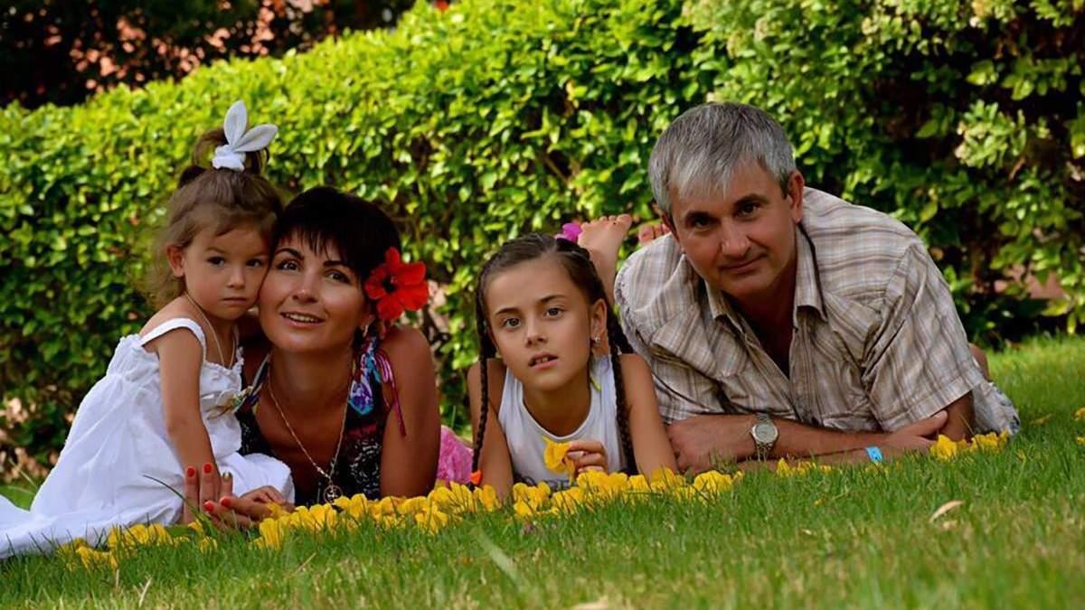 Володимир Гапоненко із сім'єю