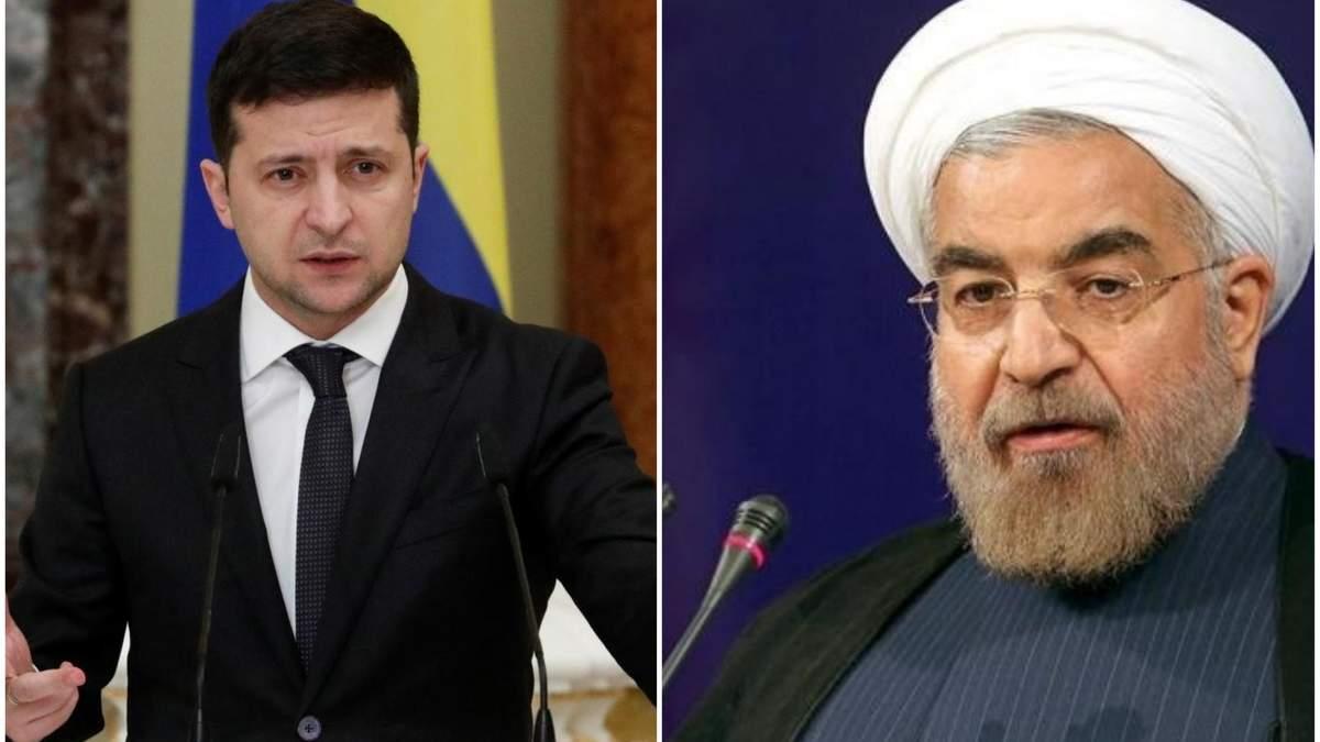 Зеленський поговорив з президентом Ірану про розслідування катастрофи літака МАУ