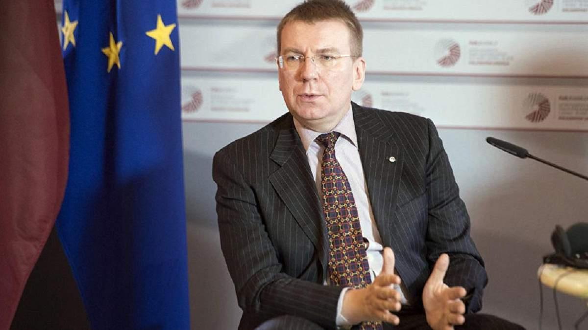 """Рінкевичс: зараз немає можливості для відновлення """"територіального"""" діалогу з Росією"""