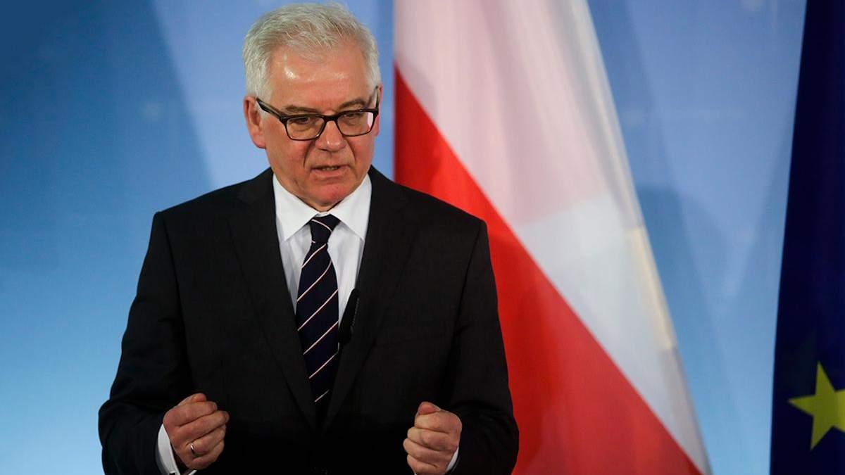 Яцек Чапутович, глава МИД Польши