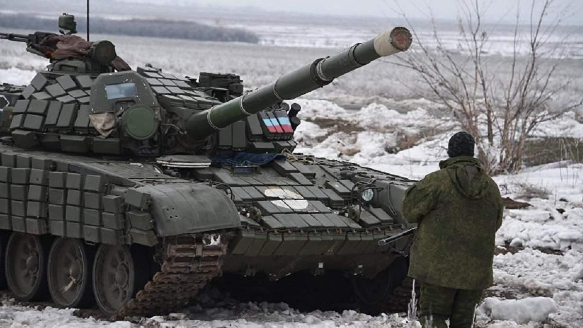ОБСЕ зафиксировала на Донбассе танки боевиков, размещенные с нарушением линии отвода