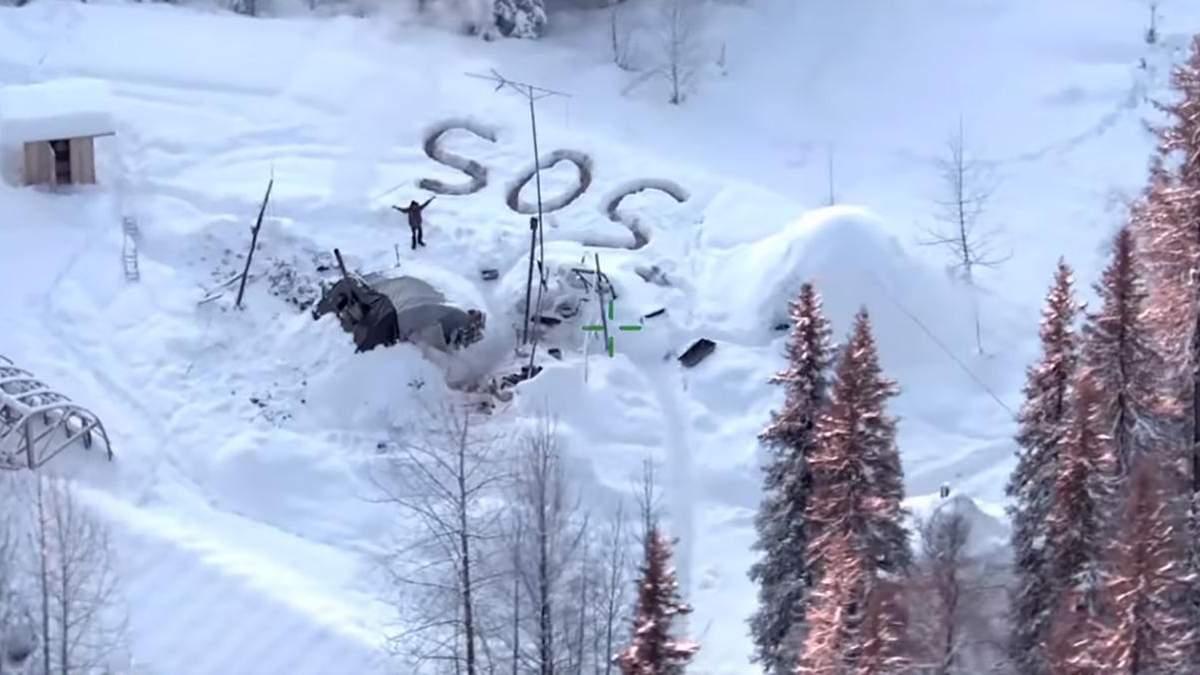 Чоловік на Алясці жив 3 тижні на морозі - відео