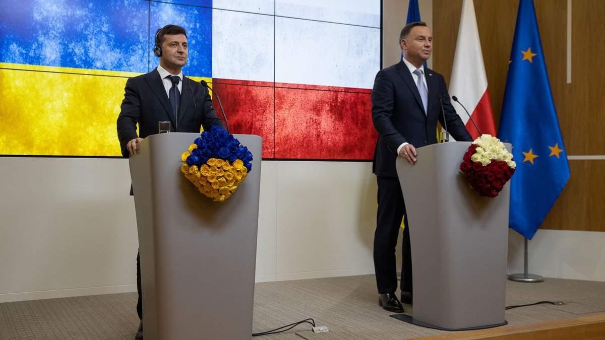 Зеленський та Дуда планують зустріч у січні