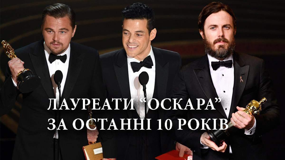 Актеры, которые получили Оскар за последние 10 лет – список