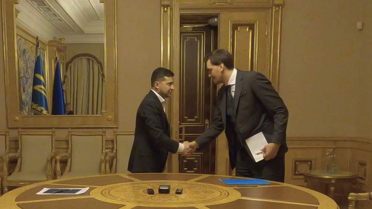 Встреча Зеленского и Гончарука