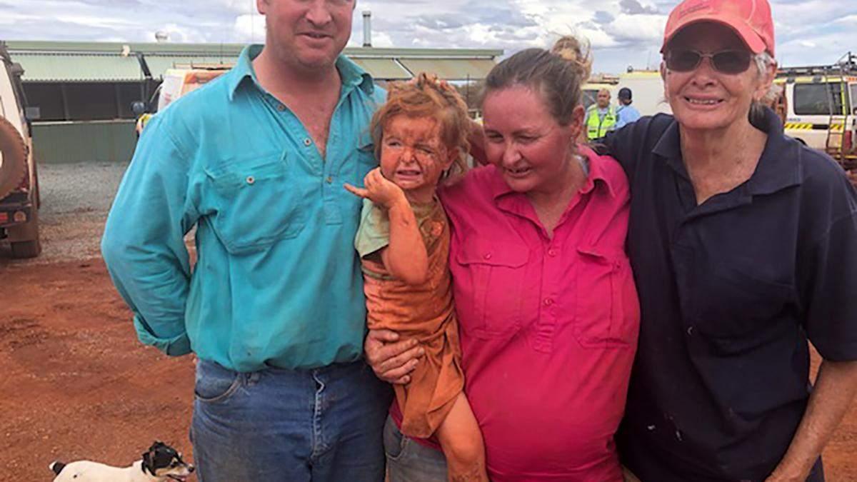 Охороняв вірний пес: історія дівчинки, яка загубилась під час потужної зливи в Австралії – відео