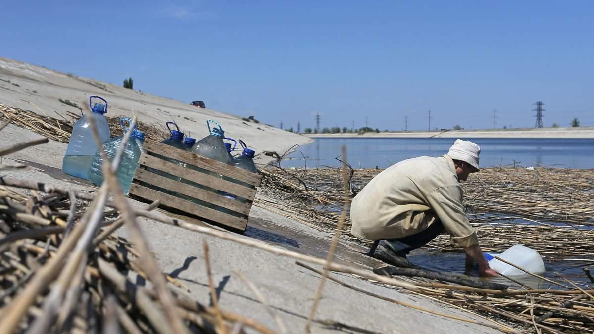 Проблемы с водой в оккупированном Крыму - появилось видео обмелевшему каналу