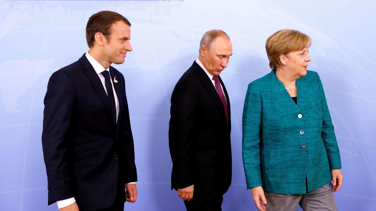 """Як Меркель та Макрон """"загубили"""" Путіна: курйозне відео з Берліна"""