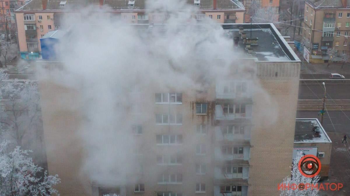Пожар в медколледже Днепра