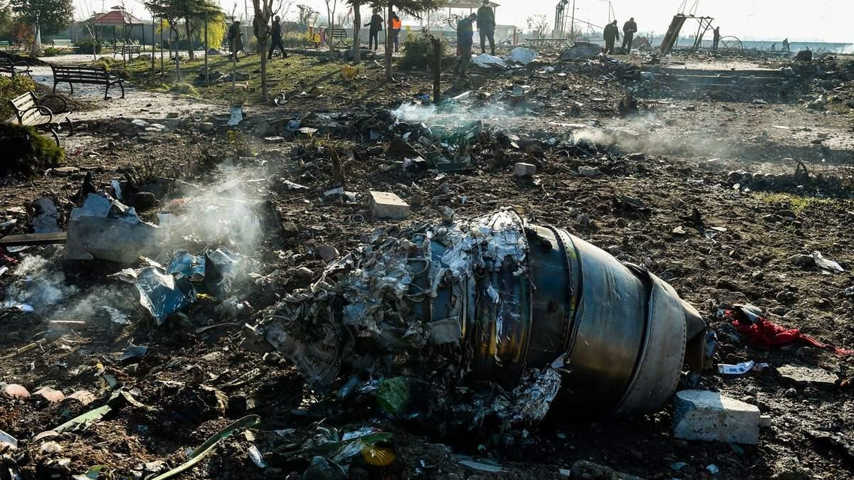 Український літак біля Тегерану збили ракетами 8 січня