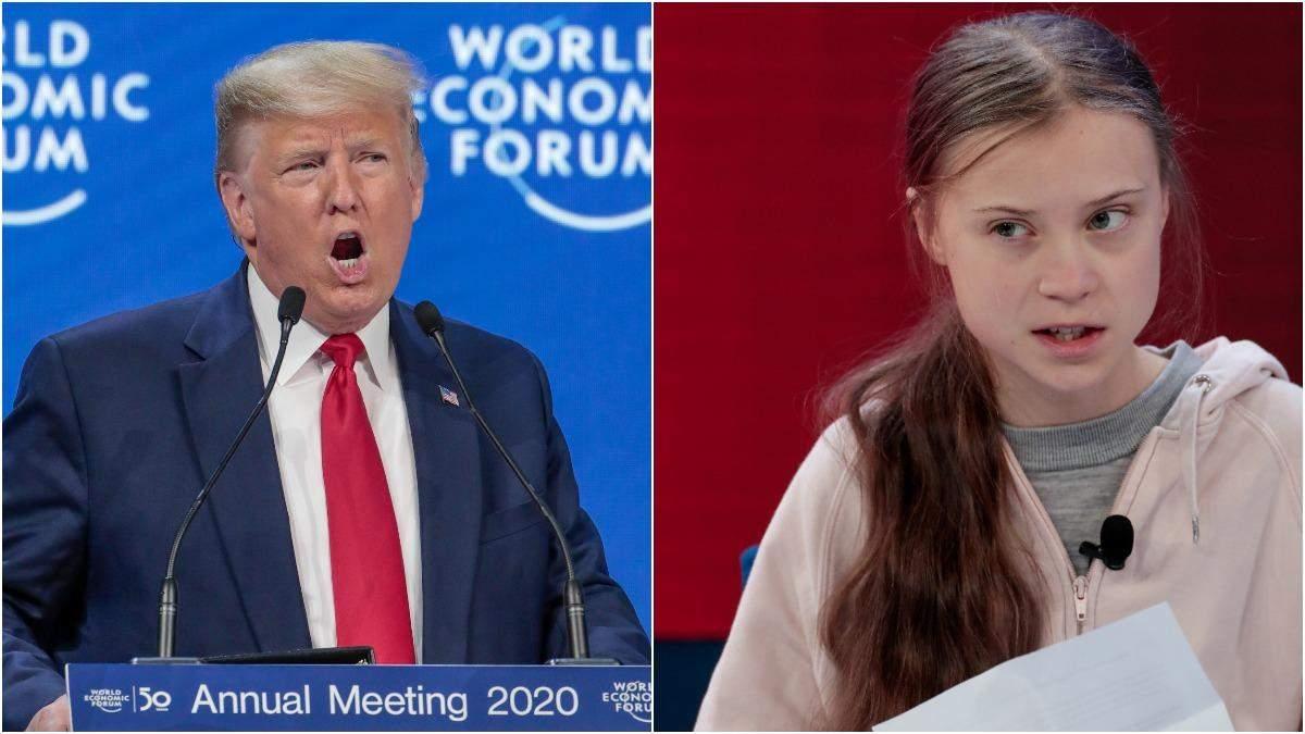 Про що говорили Трамп та Грета Тунберг