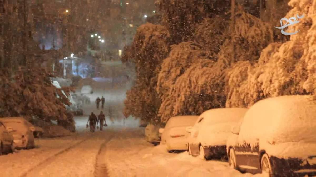 Снігопад у Йорданії