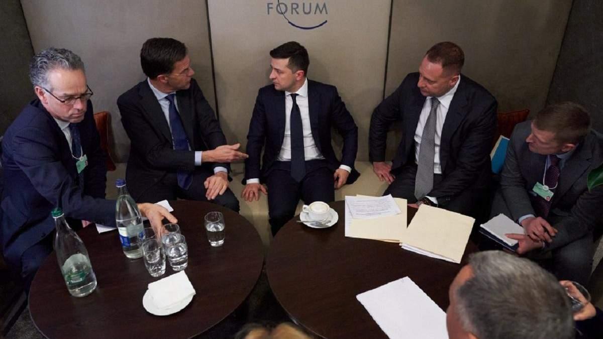 Зеленский встретился с премьером Нидерландов Рютте