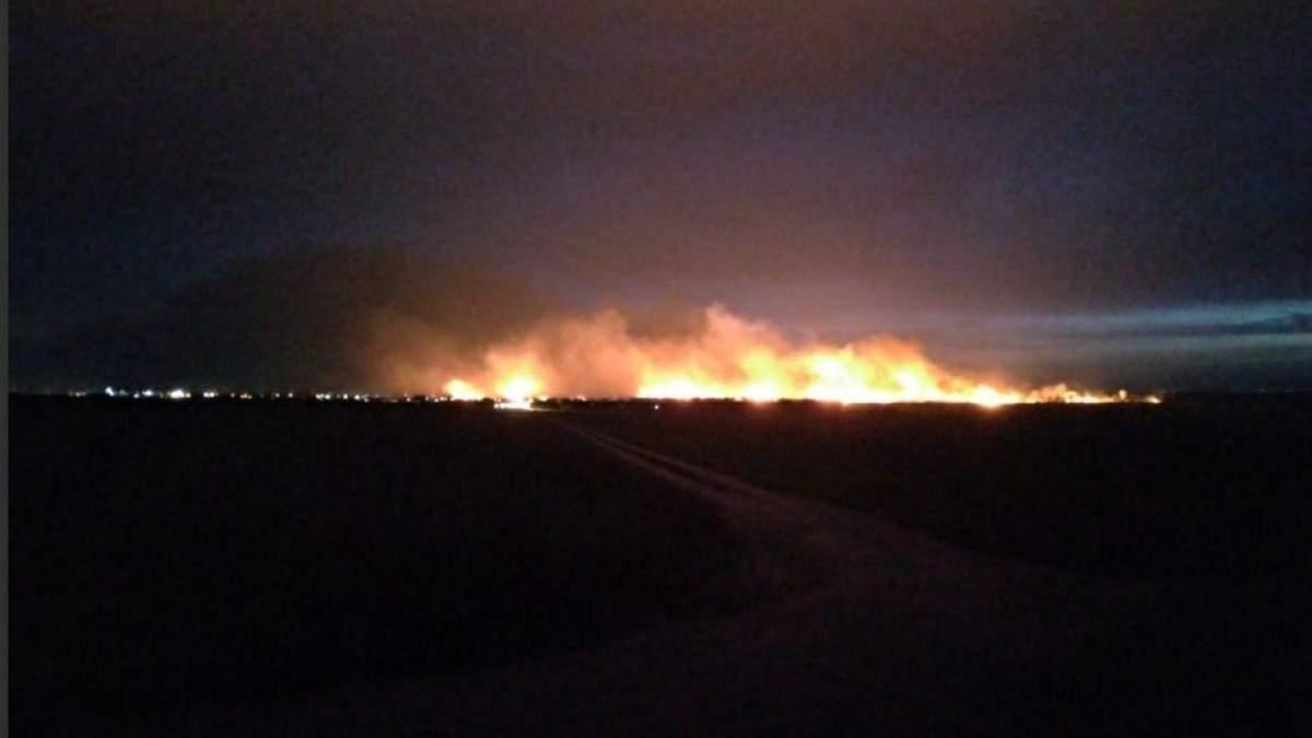 Пожар в национальном парке на Одесчине