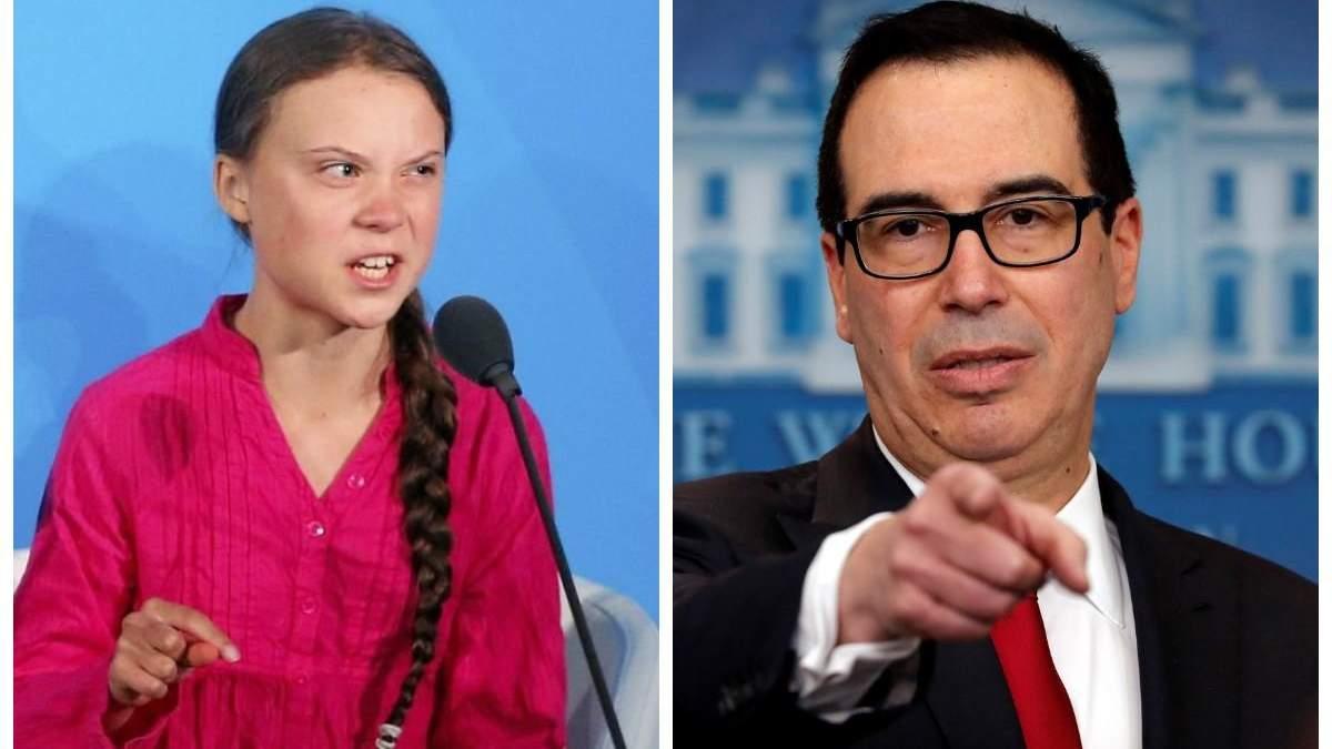 Министр финансов США резко отреагировал на заявления Греты Тунберг