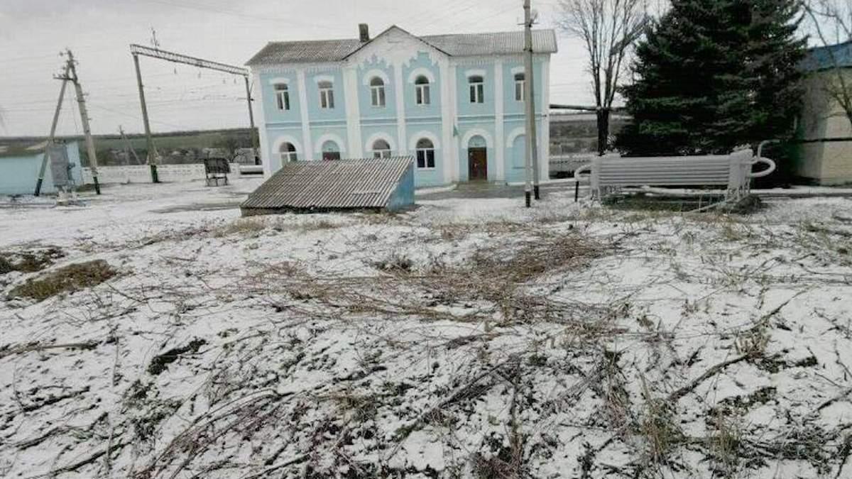 Вокзальная станция в Верхнеторецком, где удалось обезвредить взрывчатку