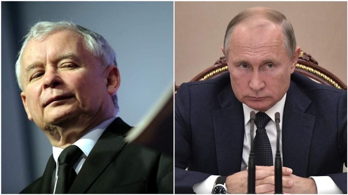 Ярослав Качиньский и Владимир Путин