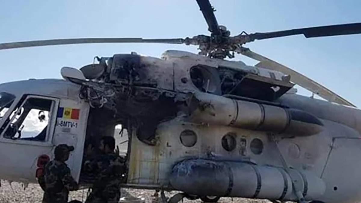 В Афганистане ракета попала в вертолет с украинским - фото