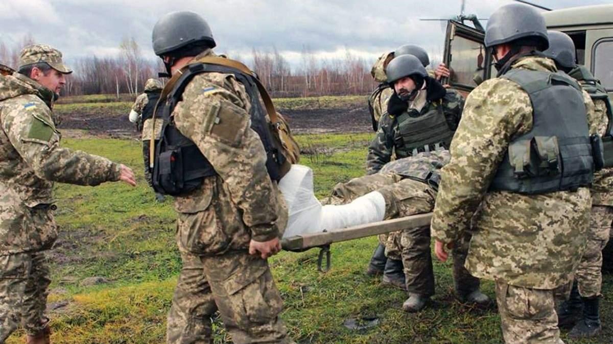 Война на Донбассе: украинский военный получил ранение