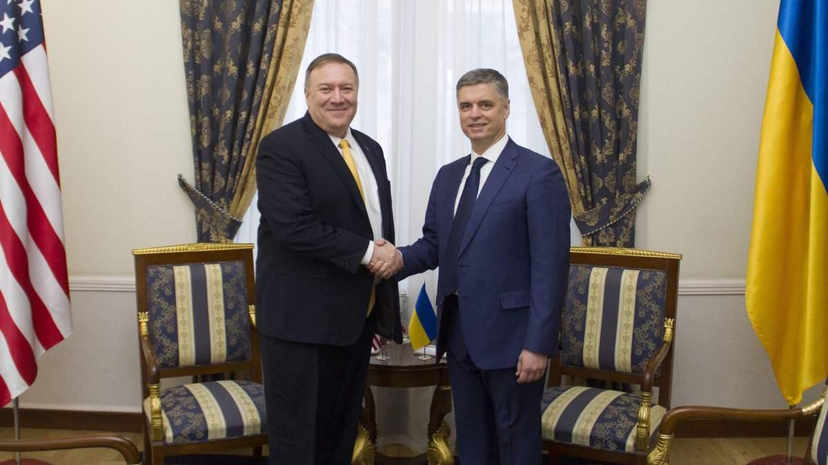Держсекретар США Майк Помпео і глава МЗС Вадим Пристайко