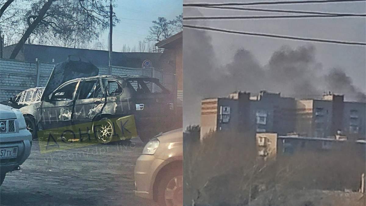 В центре Донецка взорвали BMW X5