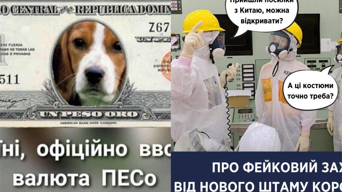 Найсмішніші меми тижня: песовалюта, Укрпошта проти коронавірусу, який вже добрався до Росії