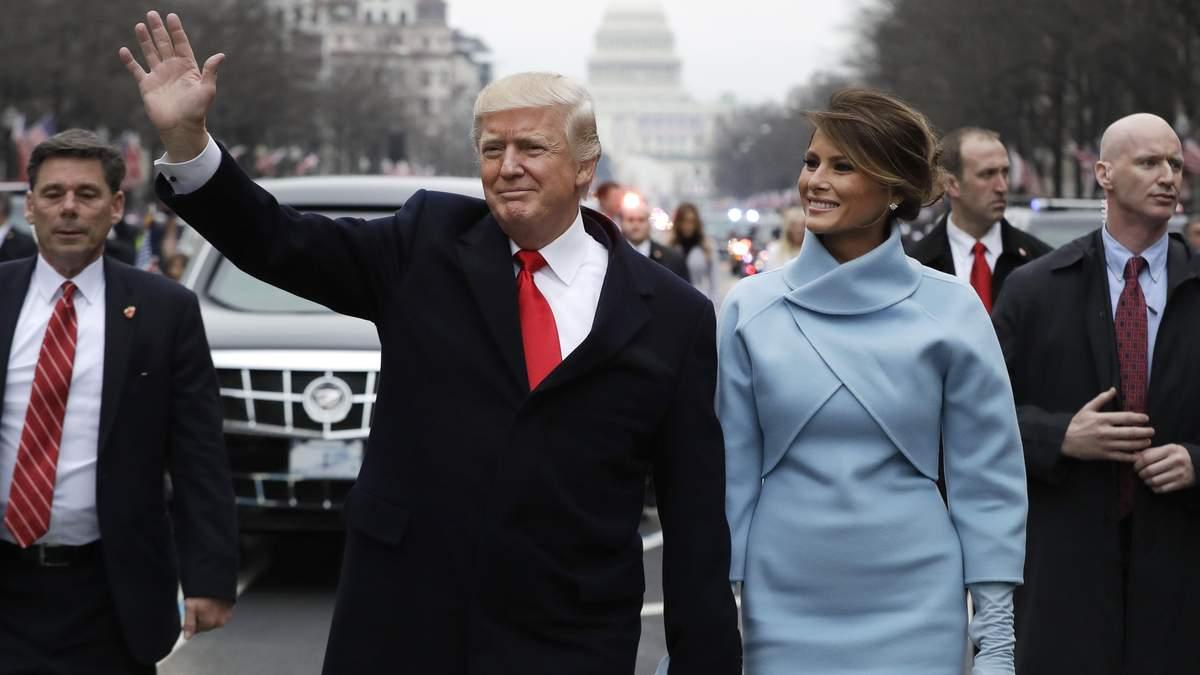 Дональд Трамп во время инаугурации