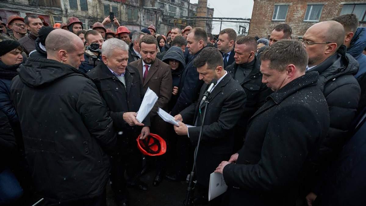 Зеленський на Львівщині поспілкувався з шахтарями: що він їм пообіцяв