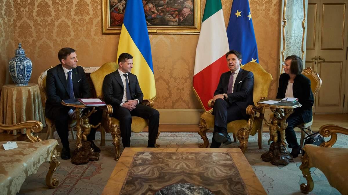 Встреча Владимира Зеленьского и Джузеппе Конте