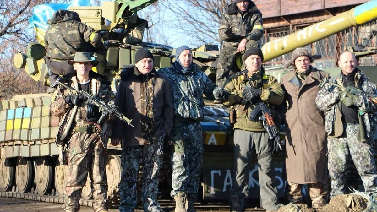 Украинские войска в бою за Дебальцевский плацдарм