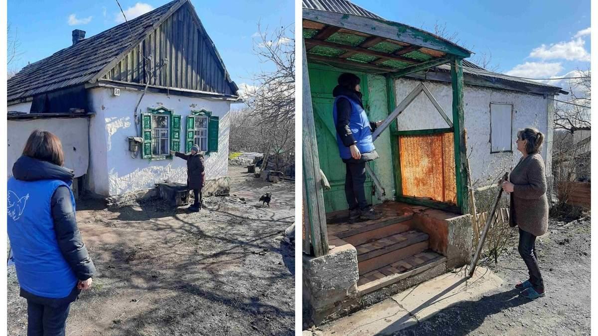 Боевики обстреляли дома в Орехово на Луганщине