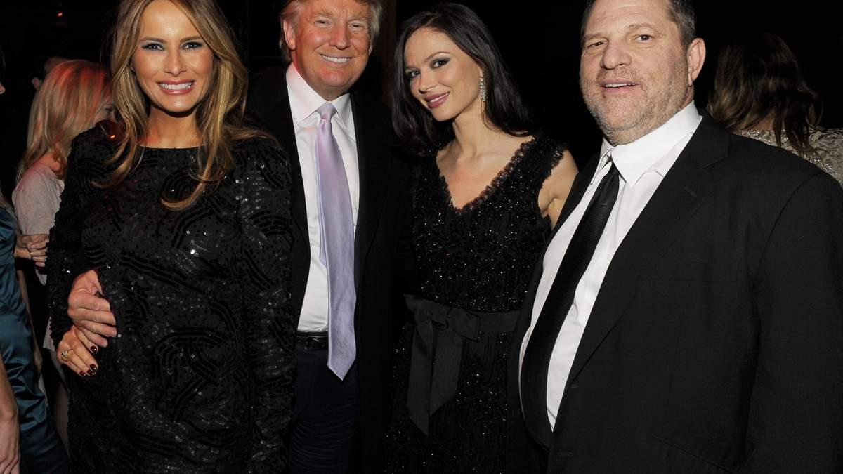 Дональд Трамп с Меланией и Вайнштейн и Джорджина Чапман