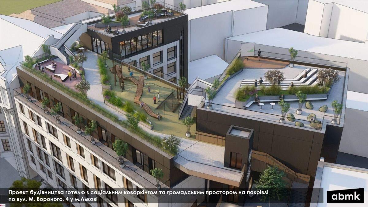 Сквер, літній театр та галерея на даху: у Львові представили унікальну архітектурну концепцію