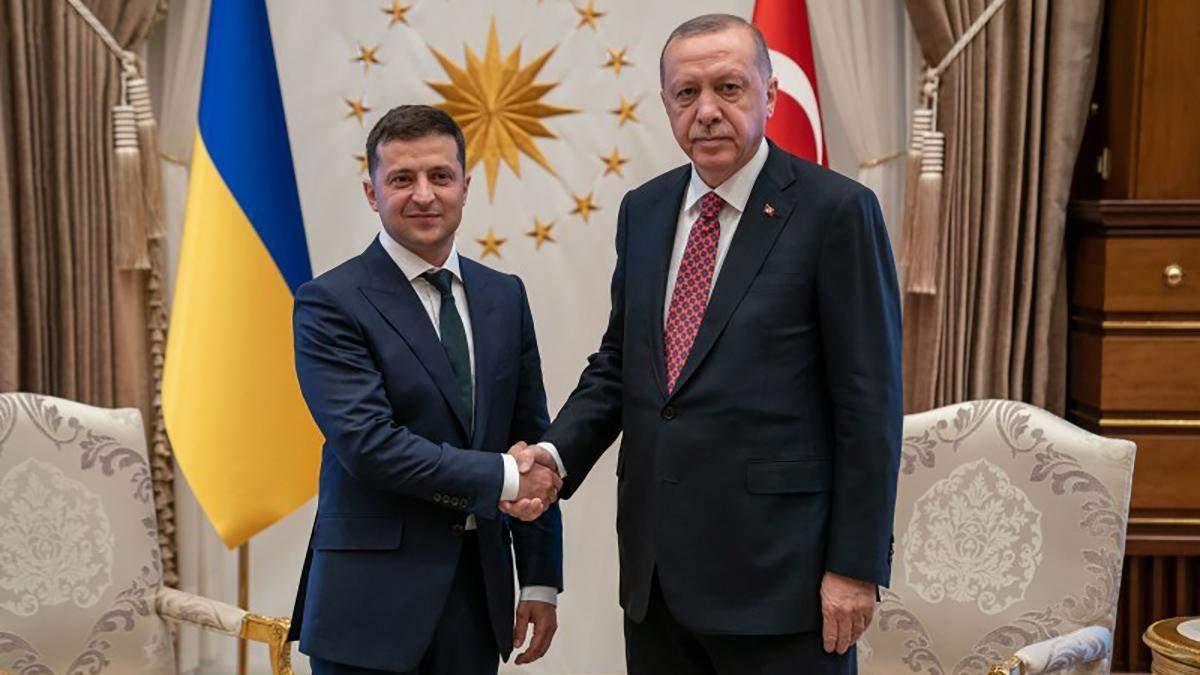 Зеленський позитивно оцінив розвиток відносин з Туреччиною