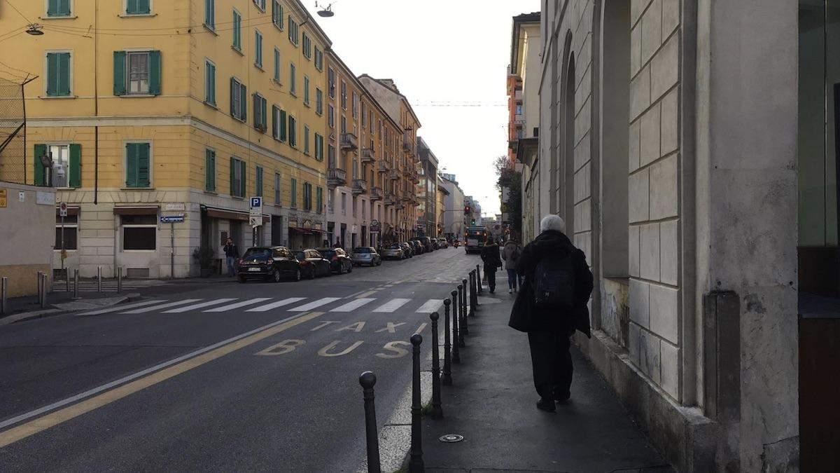 Вулиці Мілану під час епідемії