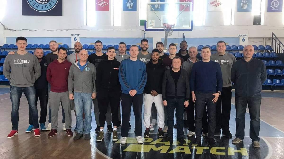 """МБК """"Миколаїв"""" припинив співпрацю з усіма баскетболістами"""