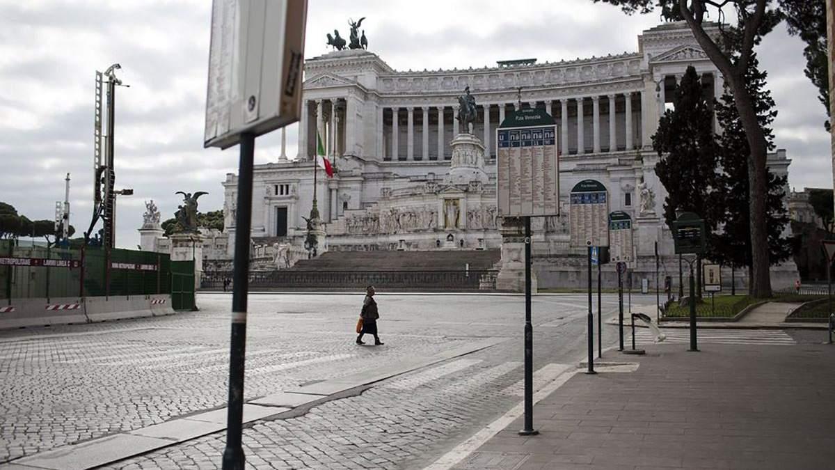 Коронавірус продовжує ширитися Італією