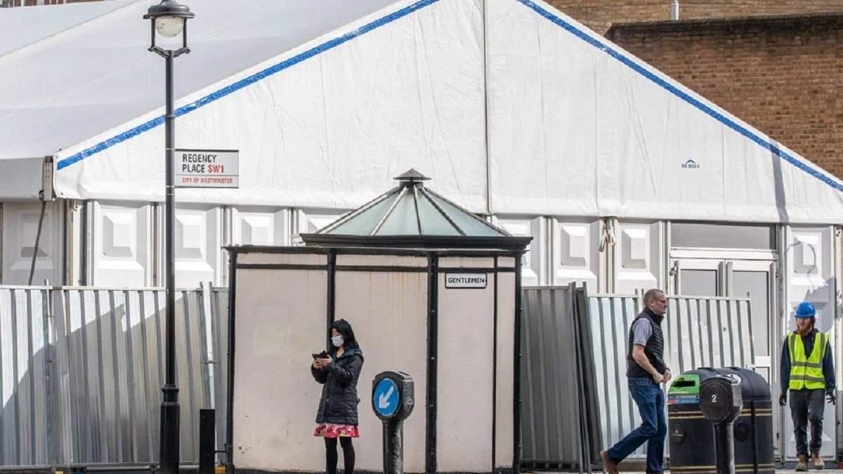 У Лондоні збудували окремий морг для тих, хто помер від коронавірусу