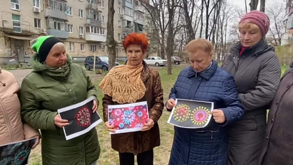 Прихильниці Путіна спалили фото коронавірусу у Росії