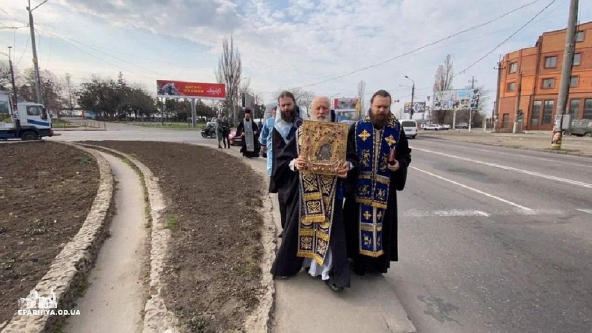"""Шевствие против """"смертоносной заразы"""" в Одессе"""